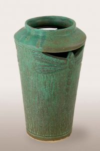 Cut Dragonfly vase
