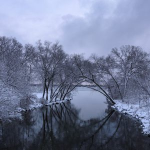 Yahara River Snowy Morning